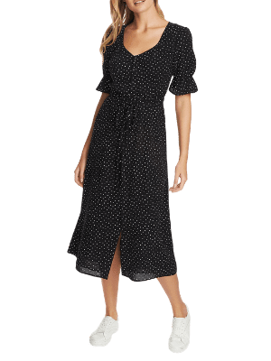 1.State Scatter Dot Puff Sleeve Dress