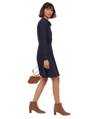 Hm Crêped Dress with Ties