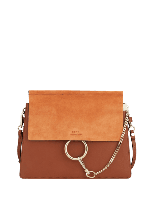 Chloe Faye Small Leather & Suede Shoulder Bag