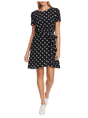 1.State Polka Dot A-Line Dress