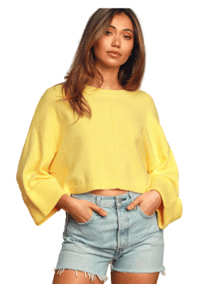 Soft Surroundings Yellow Knit Sweater