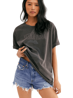 Nirvana Serve The Servant Tee by Live Nation at Free People