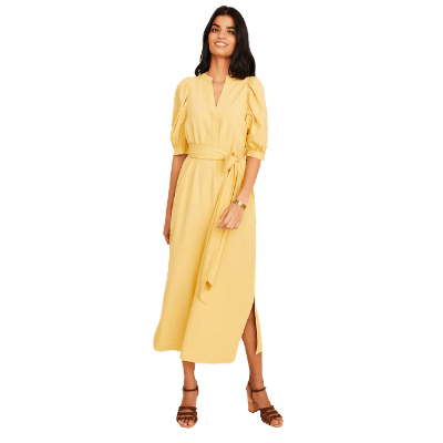 Ann Taylor Belted Midi Shirtdress