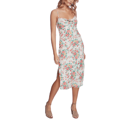 1 State Bouquet Printed Midi Dress