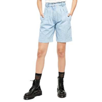 Free People High Waist Denim Culotte Shorts