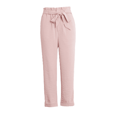 Endless Rose Paperbag Waist Roll Cuff Pants