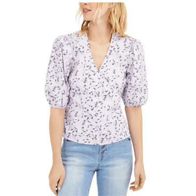 INC Floral Puff Sleeve Blouse