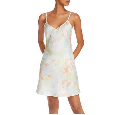 French Connection Satin Tie-Dyed Dress mini